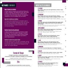 Carte de art 39 burgers collection h tel m ridien - Jazz meridien porte maillot programme ...