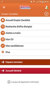 Visuel application mobile