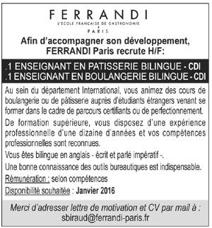 Offres d 39 emploi p tissier boulanger - Salaire net commis de cuisine ...