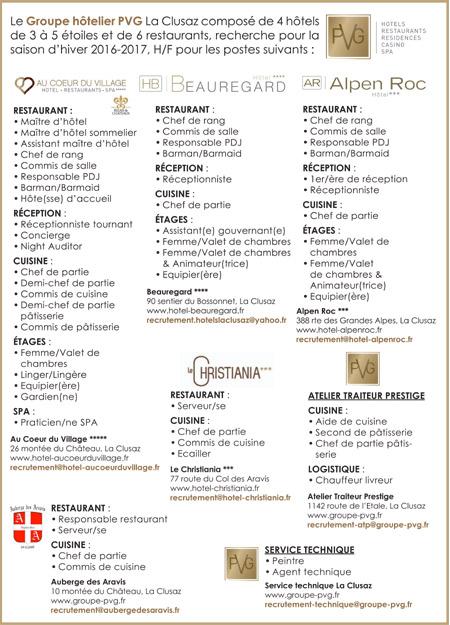 Sommelier les offres d 39 emploi - Offre d emploi chef de cuisine ...