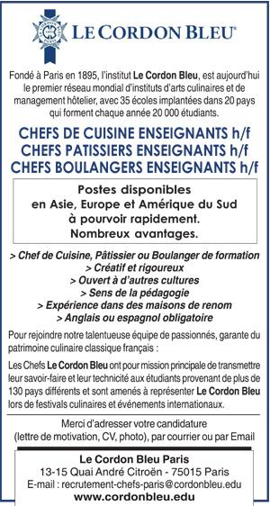 chef de cuisine - espagne : les offres d'emploi