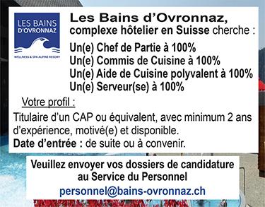 Commis de cuisine les offres d 39 emploi for Offre d emploi chef de cuisine