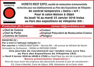 Restauration collective les offres d 39 emploi for Offre d emploi cuisine collective