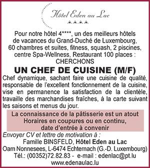 Salaire commis de cuisine suisse free salaires voici les for Offre d emploi chef de cuisine