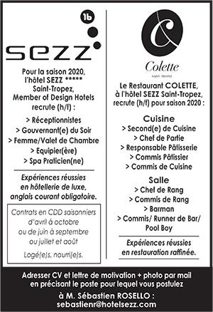 Commis De Cuisine A St Tropez Les Offres D Emploi