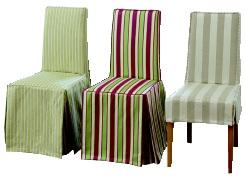 Compl tement ray e for Housses de chaises en tissu