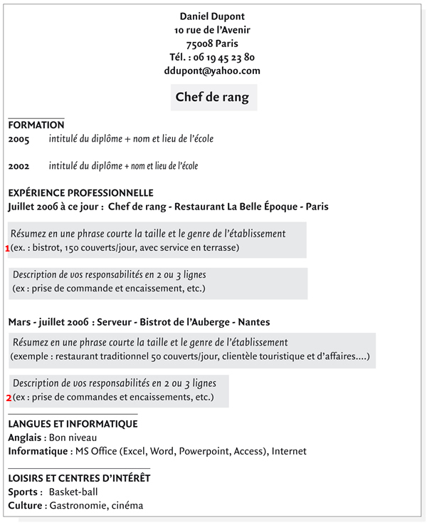exemple de cv assistant dentaire