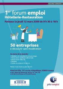 1er forum emploi h tellerie restauration puteaux 92 for Cherche emploi restauration