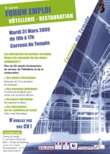 Forum emploi de l h tellerie et de la restauration le 31 mars for Emplois hotellerie restauration