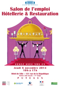 6e dition du salon de l 39 emploi h tellerie restauration for Salon hotellerie restauration