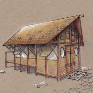 les cabanes d 39 olivier un concept nature. Black Bedroom Furniture Sets. Home Design Ideas