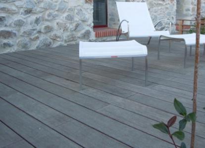 Mekong nouvelles lames de terrasse en bambou thermotrait - Terrasse en bambou ...