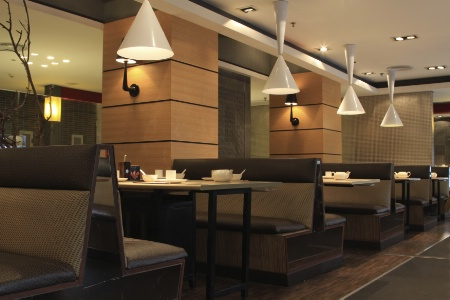 D coration couleurs mobilier les tendances du moment for Deco restaurant design
