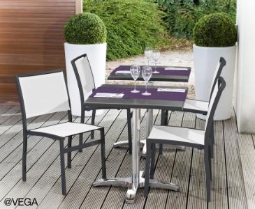 vega largit sa gamme de mobilier terrasse en toile batyline. Black Bedroom Furniture Sets. Home Design Ideas