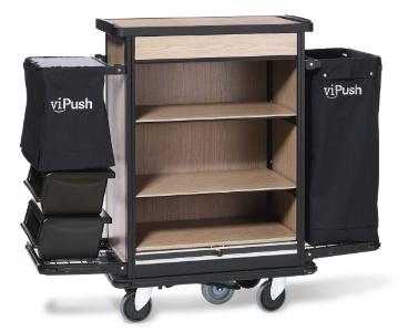 vipush des chariots con us pour les femmes de chambre. Black Bedroom Furniture Sets. Home Design Ideas