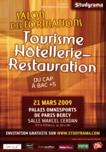 4e salon studyrama des formations tourisme h tellerie for Salon hotellerie restauration paris