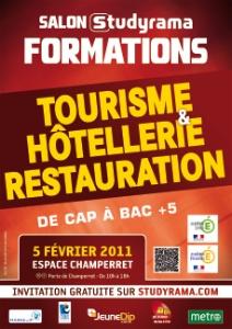 Salon studyrama des formations de tourisme h tellerie et for Salon emploi hotellerie restauration
