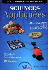 Lire sciences appliqu es cap for Sciences appliquees cap cuisine