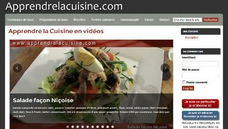 un nouveau site pour apprendre la cuisine en ligne. Black Bedroom Furniture Sets. Home Design Ideas