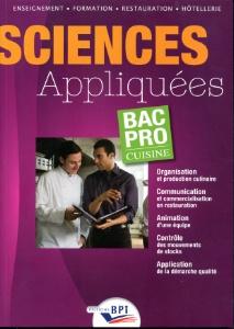 A lire sciences appliqu es bac pro cuisine aux ditions bpi for Sciences appliquees cap cuisine