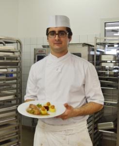 adrien drapeau, lauréat du premier concours de cuisine au cfa