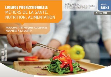 Nouvelle Licence Professionnelle Metiers De La Sante Nutrition