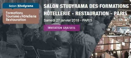 13e dition du salon studyrama tourisme et h tellerie for Salon hotellerie restauration