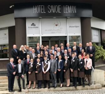 Les candidats, le jury, professionnels et enseignants étaient réunis au lycée hôtelier Savoie Léman.