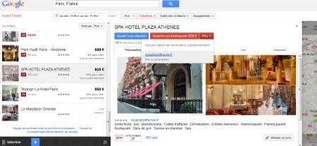 Google hotel finder un outil de r servation en ligne for Reserver un hotel en ligne
