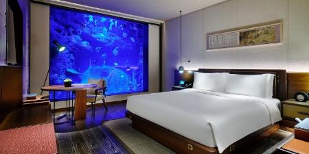 Une chambre, située dans la partie immergée de l