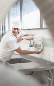 Poste de lavage des mains en cuisine et sanitaires - Protocole de lavage des mains en cuisine ...