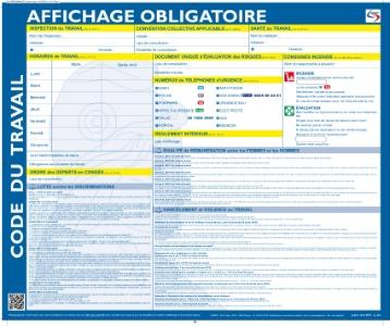 Les affichages obligatoires dans l 39 entreprise for Obligation salle de repos au travail