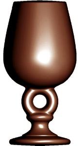 un verre en chocolat pour d guster du cahors. Black Bedroom Furniture Sets. Home Design Ideas