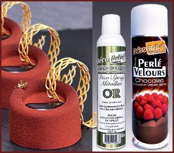 Déco\'Relief : des spray de couleurs pour décorer les préparations