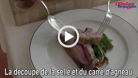 Technique de salle la d coupe de la selle et du carr d 39 agneau par xavier schneider - Comment cuisiner la selle d agneau ...