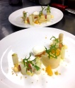 Yaourt, asperges, agrumes