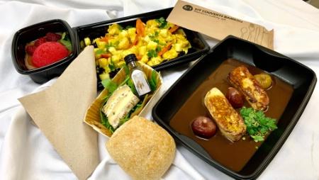 Les Maisons Lelièvre (Var) ont mis en place un service à emporter de plateaux repas gastronomiques.
