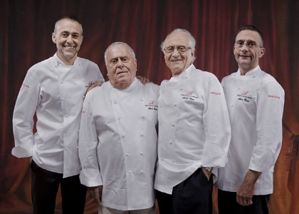 La famille Roux : Michel Jr, Albert, Michel et Alain.