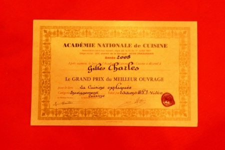 La cuisine expliqu e de gilles charles remporte le prix for Academie nationale de cuisine