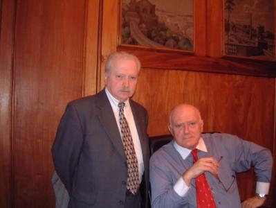 André Daguin alors président de la FNIH et son vice-président, Jean Biron, en 2004.