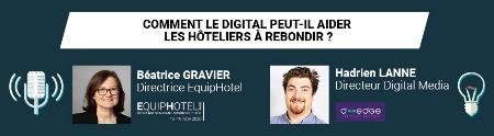 Béatrice Gravier et Hadrien Lanne sur le thème du digital.