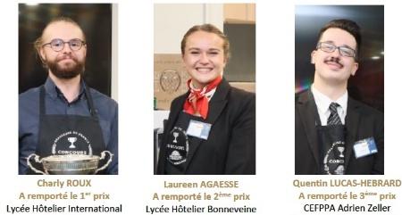 De g à d : Charly Roux, Laureen Agaesse et Quentin Lucas-Hebrard.