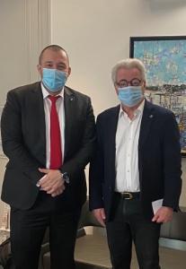 Guillaume Gomez et Didier Chenet, président du GNI.
